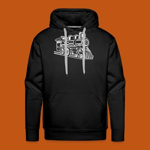 Lokomotive / Locomotive 01_weiß - Männer Premium Hoodie
