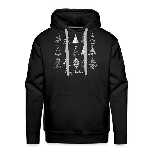 Merry Christmas Sapins de Noël - Sweat-shirt à capuche Premium pour hommes