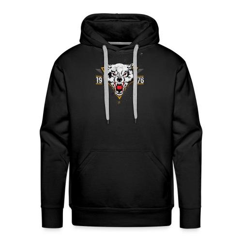 wolf since 1976 - Sweat-shirt à capuche Premium pour hommes