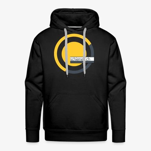 Logo «schienen.ch», gelb-grau - Männer Premium Hoodie