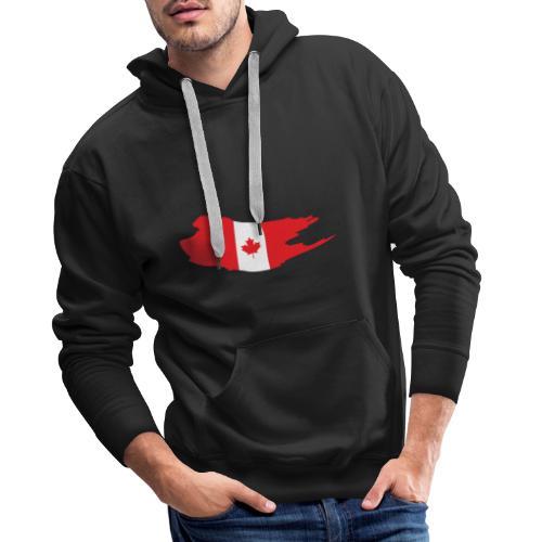 Canada Flag - Sudadera con capucha premium para hombre