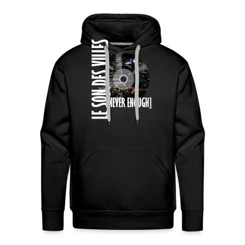 Le Son Des Villes : World Vinyl - Sweat-shirt à capuche Premium pour hommes