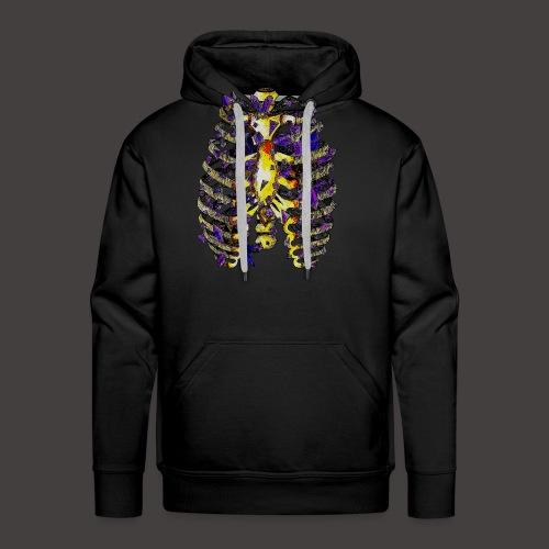 La Cage Thoracique de Cristal Creepy - Sweat-shirt à capuche Premium pour hommes