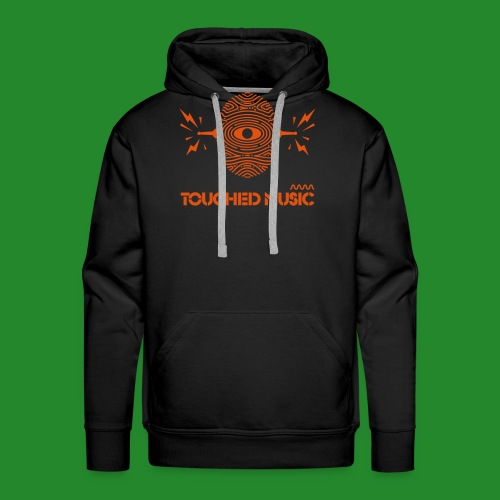 Touched Logo Orange and Navy - Men's Premium Hoodie