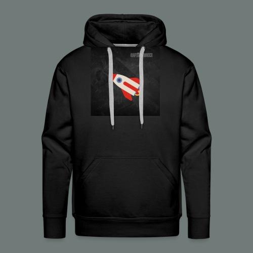 Cafeïne Rocks Rocket - Mannen Premium hoodie