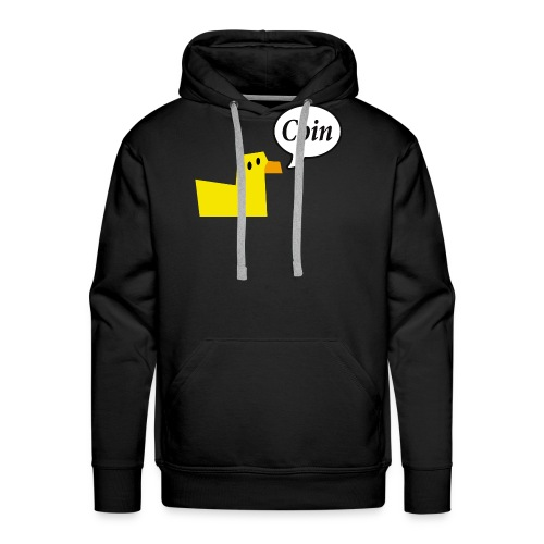 logo_coin_w3_large - Sweat-shirt à capuche Premium pour hommes