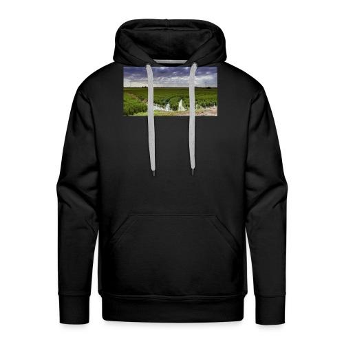 Campos de arroz - Sudadera con capucha premium para hombre