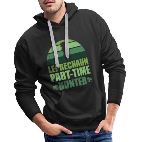 Leprechaun Part-Time Hunter - Felpa con cappuccio premium da uomo