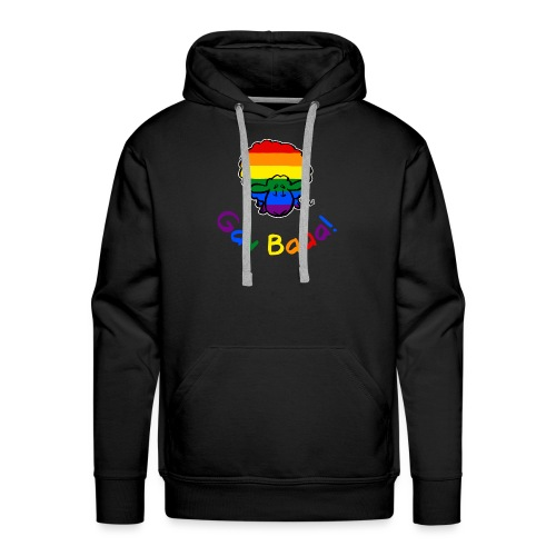 Gay Baaa! Pride Sheep (tekst tęczy w czarnej edycji) - Bluza męska Premium z kapturem