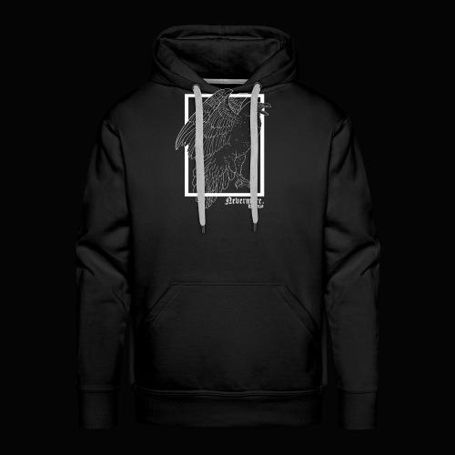 Nevermore in White - Sudadera con capucha premium para hombre