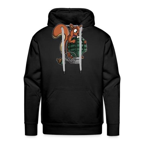 Eichhörnchen Granate - Männer Premium Hoodie