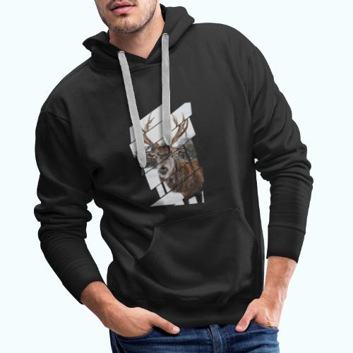 Hipster reindeer - Men's Premium Hoodie