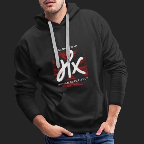 welcome to my human experience - Sweat-shirt à capuche Premium pour hommes