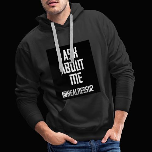 Ask About Me!! Truth T-Shirts!! #Woke #AskAboutMe - Men's Premium Hoodie