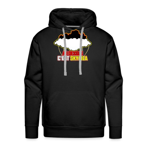 AU DESSUS C'EST SKYPIEA - Sweat-shirt à capuche Premium pour hommes