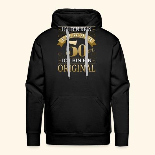 Falscher 50er 50. Geburtstaggeschenk 50 Original - Männer Premium Hoodie