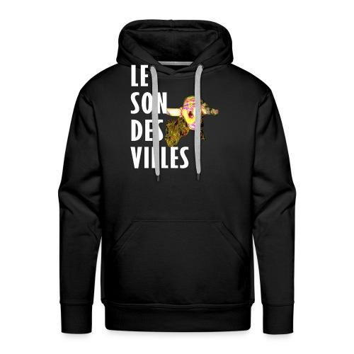 Le Son Des VIlles - Sweat-shirt à capuche Premium pour hommes