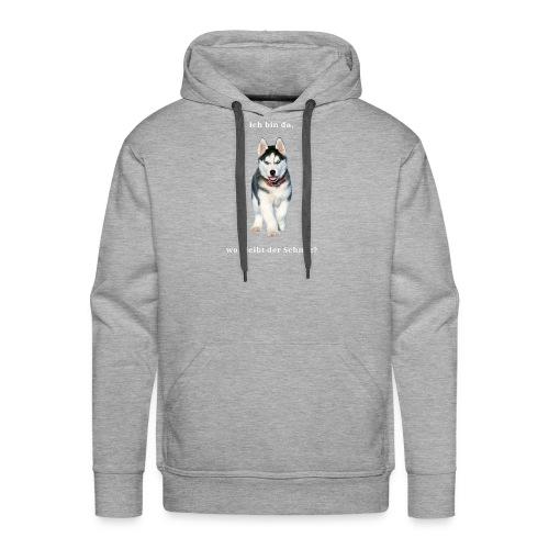 Husky Welpen mit bezaubernden Augen - Männer Premium Hoodie