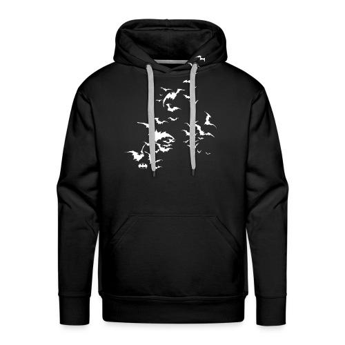 Batman Fledermaus Schwarm weiß - Männer Premium Hoodie