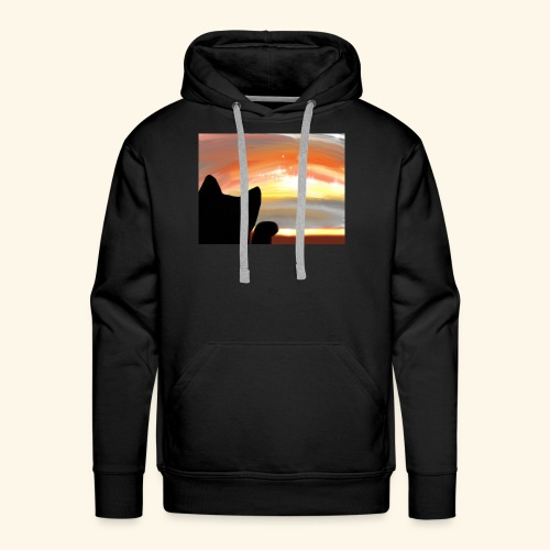 Looking sky - Sweat-shirt à capuche Premium pour hommes