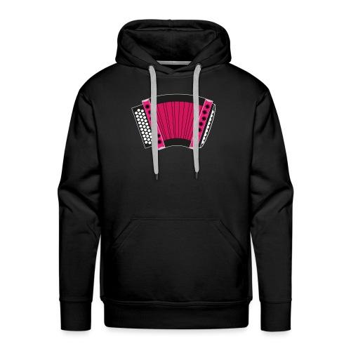 Schwyzerörgeli pink schwarzer Hintergrund - Männer Premium Hoodie
