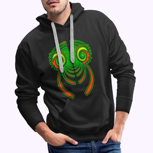 Fractal Dragon 3 color 2 - Sudadera con capucha premium para hombre