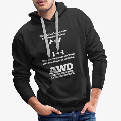 4WD AWD 4x4 Allrad Konstruktionsfehler - Männer Premium Hoodie