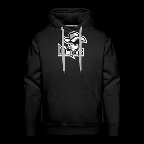 Delinquents Sort Design - Herre Premium hættetrøje
