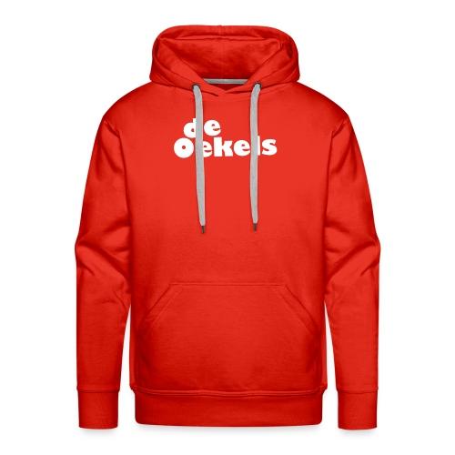 DeOekels t-shirt Logo wit - Mannen Premium hoodie