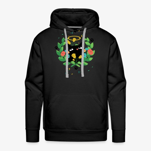 Black cat design for cat lovers - Men's Premium Hoodie
