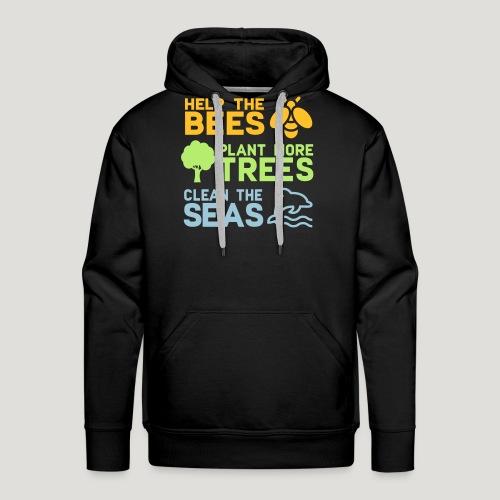 Help the Bees Plant More Trees Hilf den Bienen - Männer Premium Hoodie