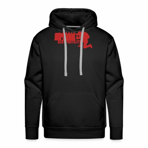 Logo Albyphoto Red - Felpa con cappuccio premium da uomo