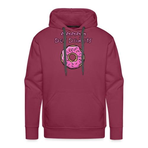 mm des donuts - Sweat-shirt à capuche Premium pour hommes