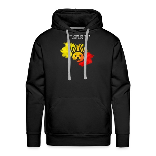 I know where the rabbit goes along - Männer Premium Hoodie