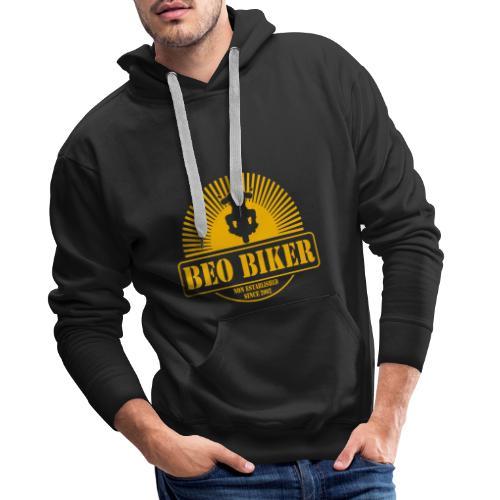 Logo Beo Biker Yellow - Männer Premium Hoodie