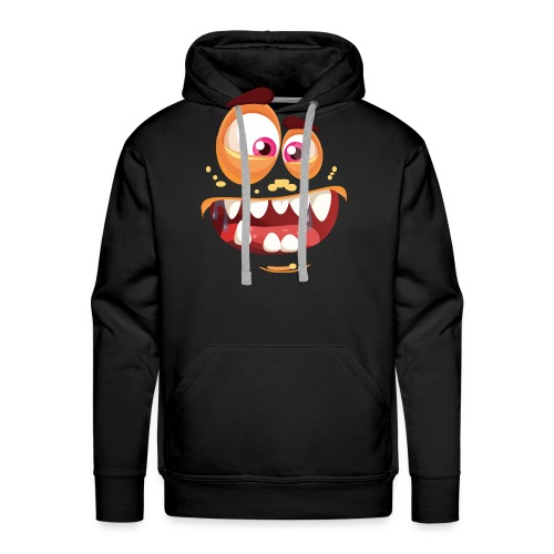 Halloween Monster Gesicht - Männer Premium Hoodie