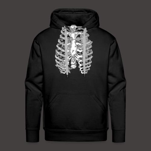 La Cage Thoracique de Cristal - Sweat-shirt à capuche Premium pour hommes