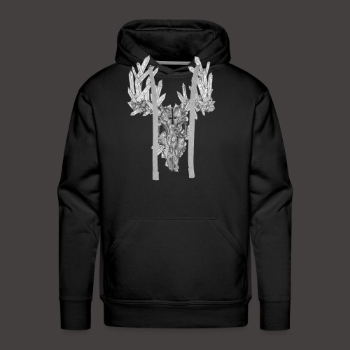 Le Cerf de Cristal - Sweat-shirt à capuche Premium pour hommes