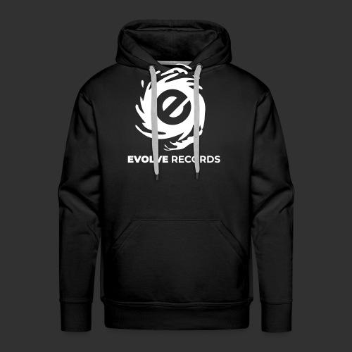EVOLVE RECORDS - WHITE - Men's Premium Hoodie
