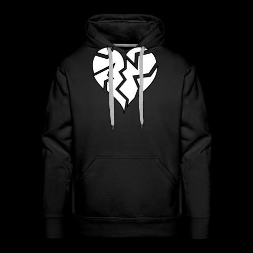 White HeartBroken - Men's Premium Hoodie