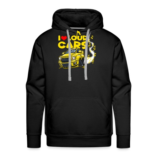 0577 I love loud cars (on black) - Mannen Premium hoodie