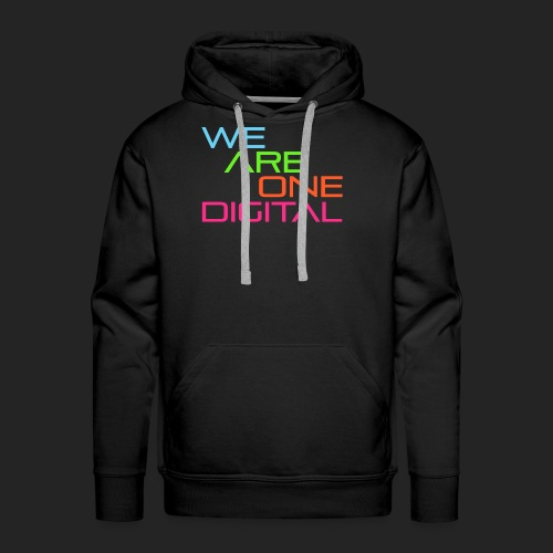Official We Are One Digital Text Design - Men's Premium Hoodie