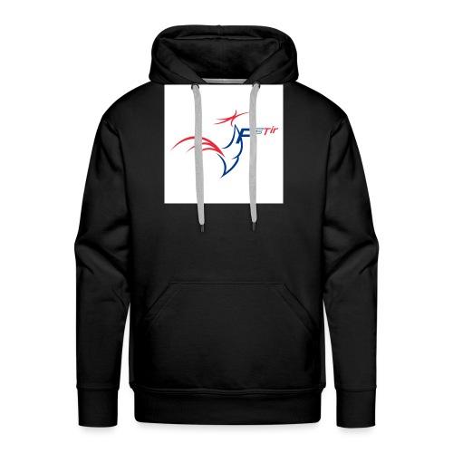 2014 logo FFT - Sweat-shirt à capuche Premium pour hommes