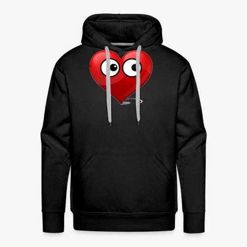 cœur avec yeux - Sweat-shirt à capuche Premium pour hommes