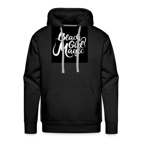 Black Girl Magic 1 White Text - Men's Premium Hoodie