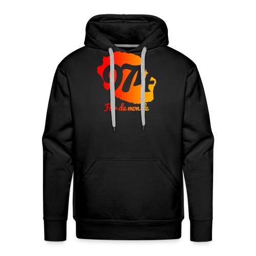 Collection 974 Fier de mon île - Sweat-shirt à capuche Premium pour hommes