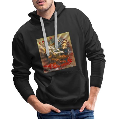 Design Drums 1. Chronik 16 - Männer Premium Hoodie