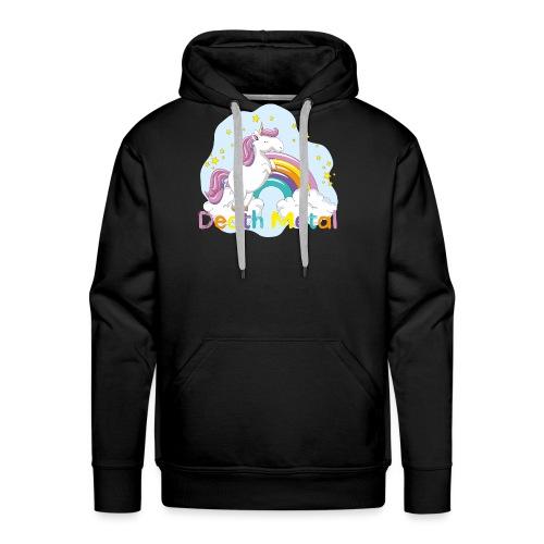 unicorn death metal - Mannen Premium hoodie