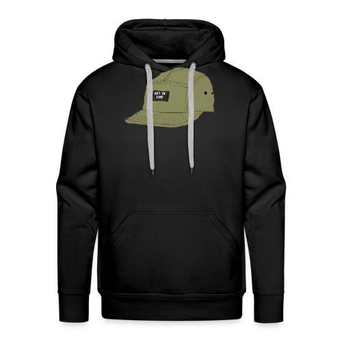 5 panel Get in line hoodie - Men's Premium Hoodie