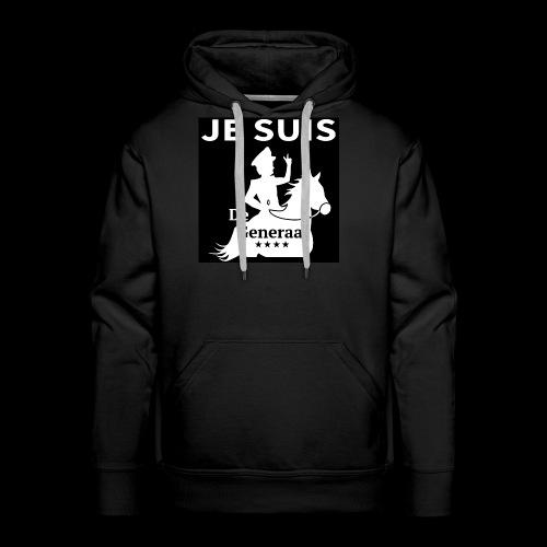 JE SUIS De Generaal (wit op zwart) - Mannen Premium hoodie